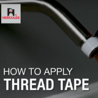 How to Apply Thread Tape