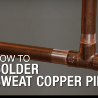 How to Solder Sweat Copper Pipe